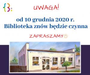 12 Czerwca 2020 R. Biblioteka Bedzie Nieczynna 1