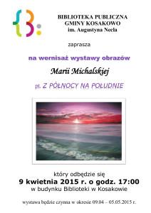 zaproszenie_wernisaż_M.Michalska