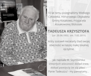 Tadeusz Krzysztof Ur. 20.06.1932 Zm. 7.02.2011 1