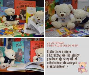Biblioteczne Misie Z Kosakowskiej Ksiaznicy Pozdrawiaja Wszystkich Milosnikow Pluszakow