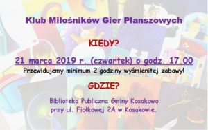 Gry Planszowe21.03.2019